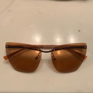 Versace Amber/Pink Rounded Aviators